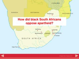 How did black South Africans  oppose apartheid?