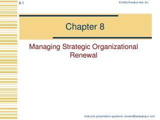Managing Strategic Organizational Renewal