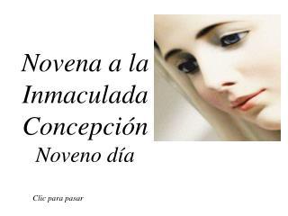 Novena a la Inmaculada Concepción Noveno día