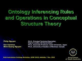 Ontology Inferencing Rules and Operations in Conceptual Structure Theory