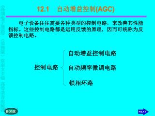 12.1     自动增益控制 (AGC)