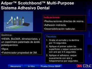 Química: HEMA, BisGMA, dimetacrilatos, y un copolímero patentado de ácido polialquenóico. Agua