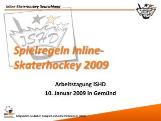 Spielregeln Inline-Skaterhockey 2009
