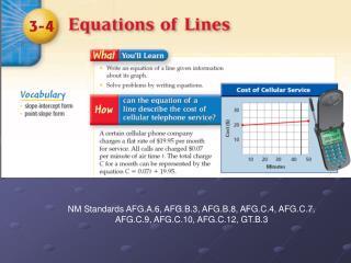 NM Standards AFG.A.6, AFG.B.3, AFG.B.8, AFG.C.4, AFG.C.7, AFG.C.9, AFG.C.10, AFG.C.12, GT.B.3