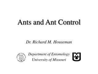 Ants and Ant Control