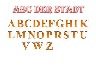 ABC der STADT