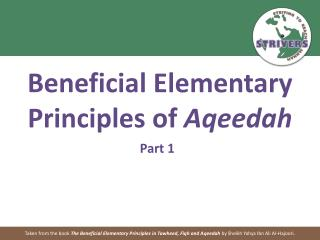Beneficial Elementary Principles of  Aqeedah