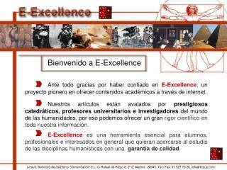 Bienvenido a E-Excellence