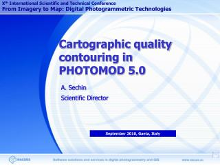 Cartographic quality contouring in PHOTOMOD 5.0