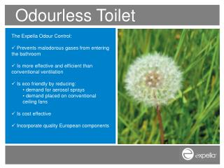 Odourless Toilet