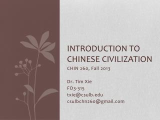 Introduction to Chinese civilization
