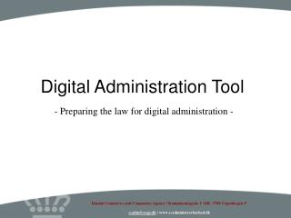 Digital Administration Tool