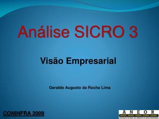 Análise SICRO  3