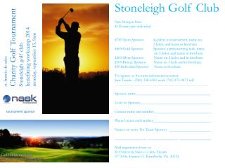 st. francis  de sales  Charity Golf Tournament Stoneleigh golf club benefitting workcamp  2014