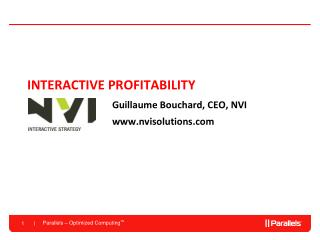 INTERACTIVE PROFITABILITY