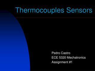 Thermocouples Sensors