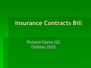 Insurance Contracts Bill