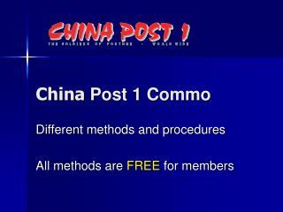 China  Post 1 Commo