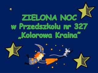 """ZIELONA NOC  w Przedszkolu nr 327  """"Kolorowa Kraina"""""""