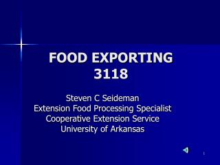 FOOD EXPORTING 3118