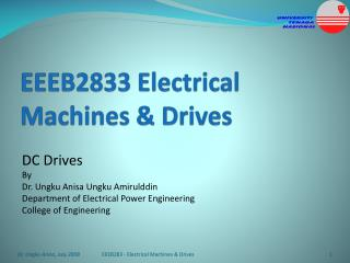 EEEB2833 Electrical Machines & Drives