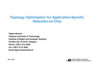 Topology Optimization for Application-Specific Networks-on-Chip
