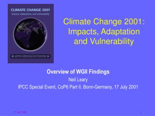 Climate Change 2001: Impacts, Adaptation  and Vulnerability