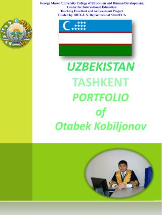 UZBEKISTAN TASHKENT PORTFOLIO of Otabek Kobiljonov