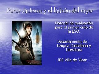 Percy Jackson y el ladr n del rayo