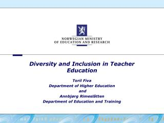 Diversity and Inclusion in Teacher Education