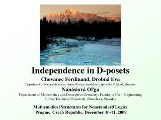Independence in D-posets