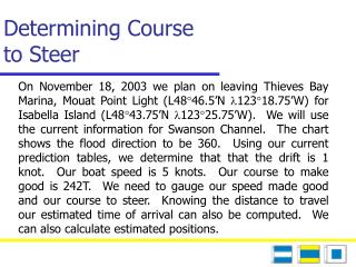 Determining Course  to Steer