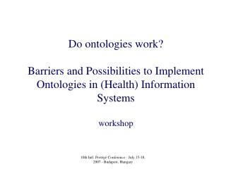 Do ontologies work?