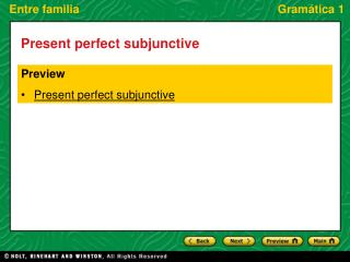 Preview Present perfect subjunctive