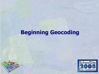 Beginning Geocoding