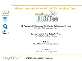 Heavy ion irradiations of UMo7/Al nuclear fuels