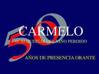 CARMELO  DE ALQUER AS DEL NI O PERDIDO