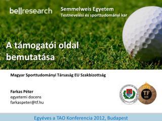 Semmelweis Egyetem Testnevelési és sporttudományi kar