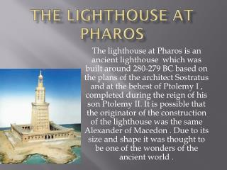 The  lighthouse at Pharos