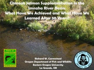 Chinook Salmon Supplementation in the