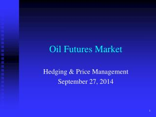 Oil Futures Market