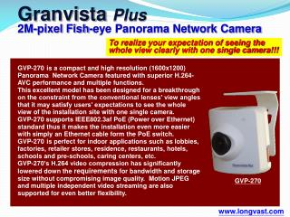 To realize your expectation of seeing the whole view clearly with one single camera!!!