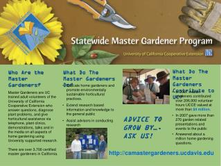 Who Are the Master Gardeners?