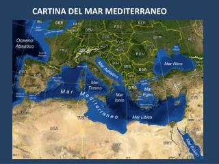 CARTINA DEL MAR MEDITERRANEO