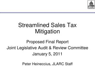 Streamlined Sales Tax Mitigation