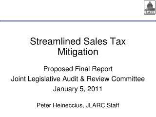 Streamlined Sales Tax Mitigation
