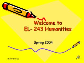 Welcome to  EL- 243 Humanities