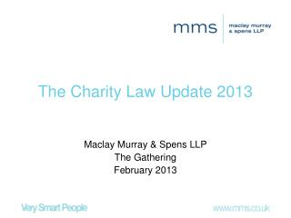The Charity Law Update 2013