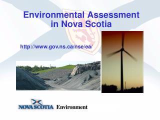Environmental Assessment in Nova Scotia