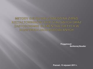 Poznań, 13 styczeń 2011 r.